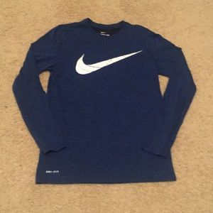 Nike DriFit long sleeve tee. Men's small/boys XL.